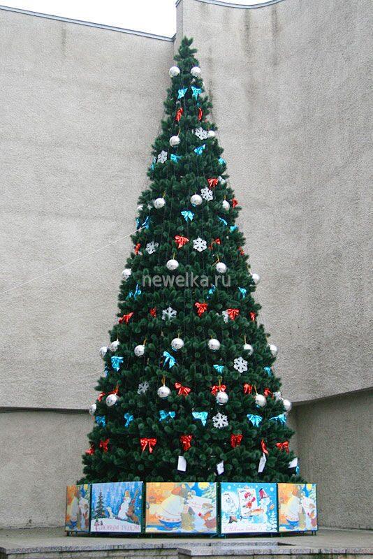 Новогодняя елка своими руками на улицу